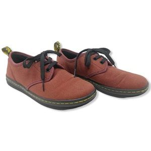 Doc Marten Soho Shoes Sneakers Canvas Maroon Red 5